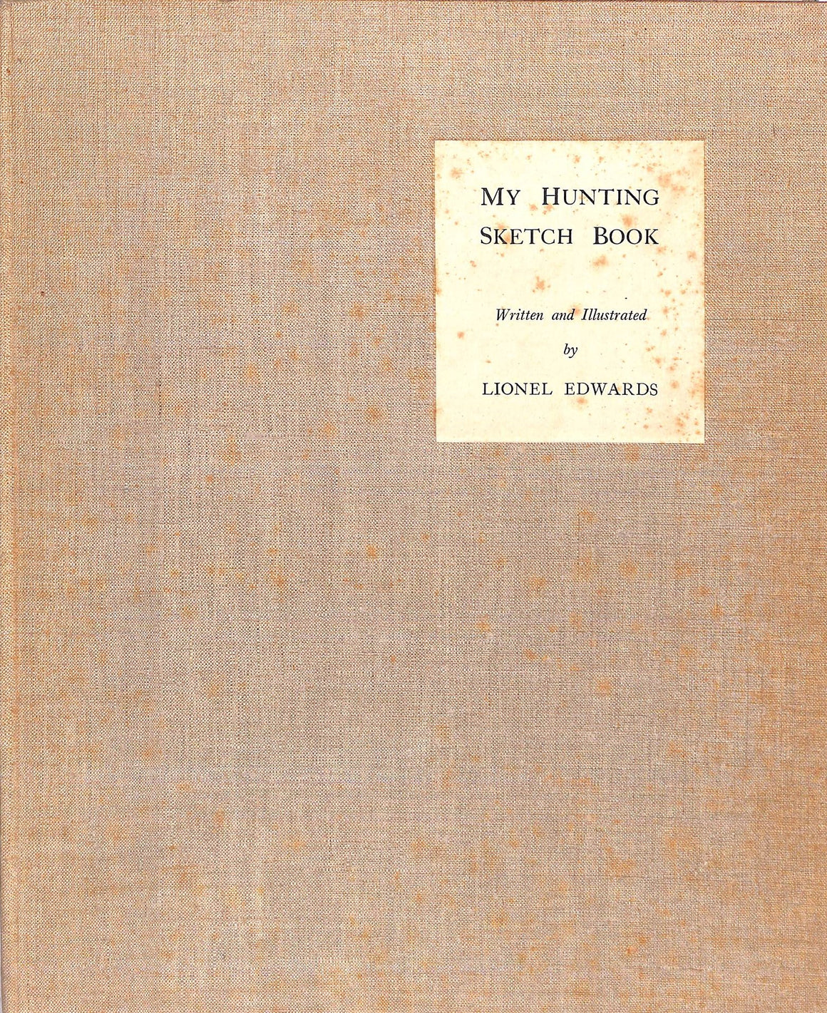 """My Hunting Sketchbook"" EDWARDS, Lionel"