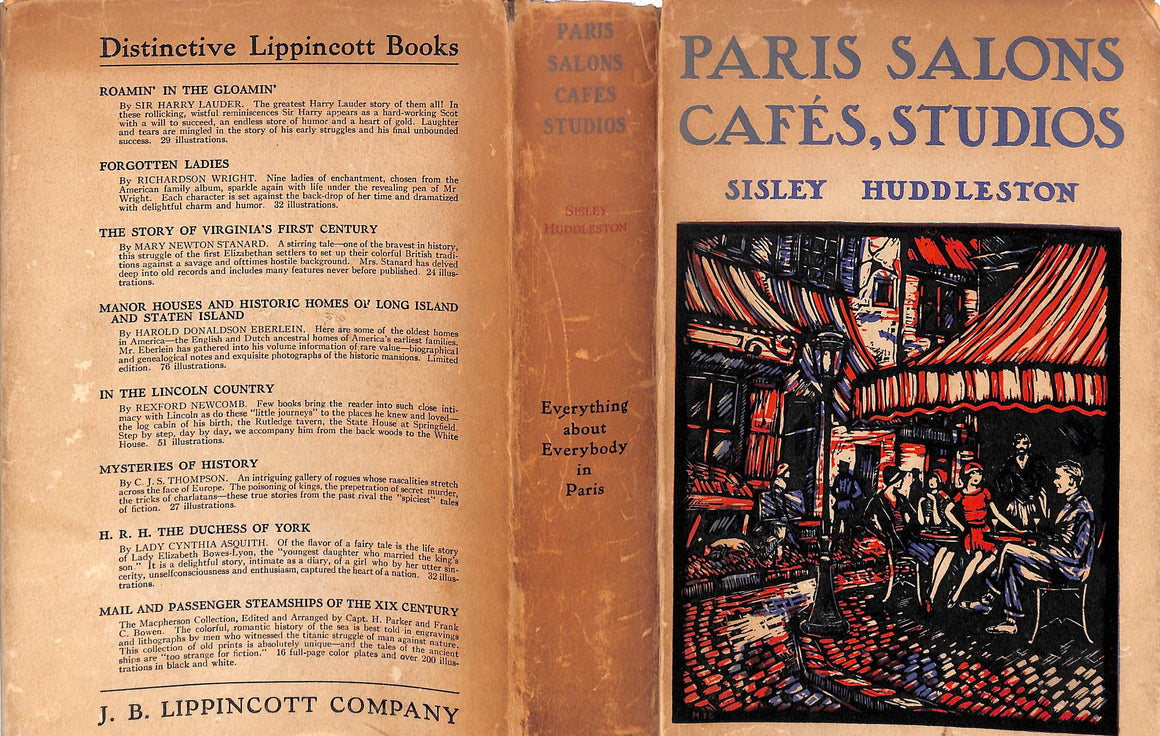"""Paris Salons Cafes, Studios: Everything about Everybody in Paris"" Huddleston, Sisley"