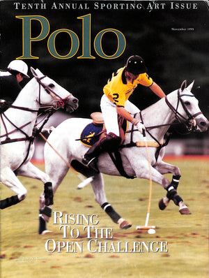 """Polo Magazine: Tenth Annual Sporting Art Issue November 1995"""