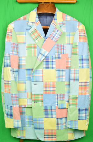Brooks Brothers Patch Pastel Madras Sport Coat Sz: 48R (New/ Old Stock!)