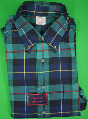 Brooks Brothers Viyella Tartan Flannel Shirt Sz: 16-XL (New w/ Tag!)