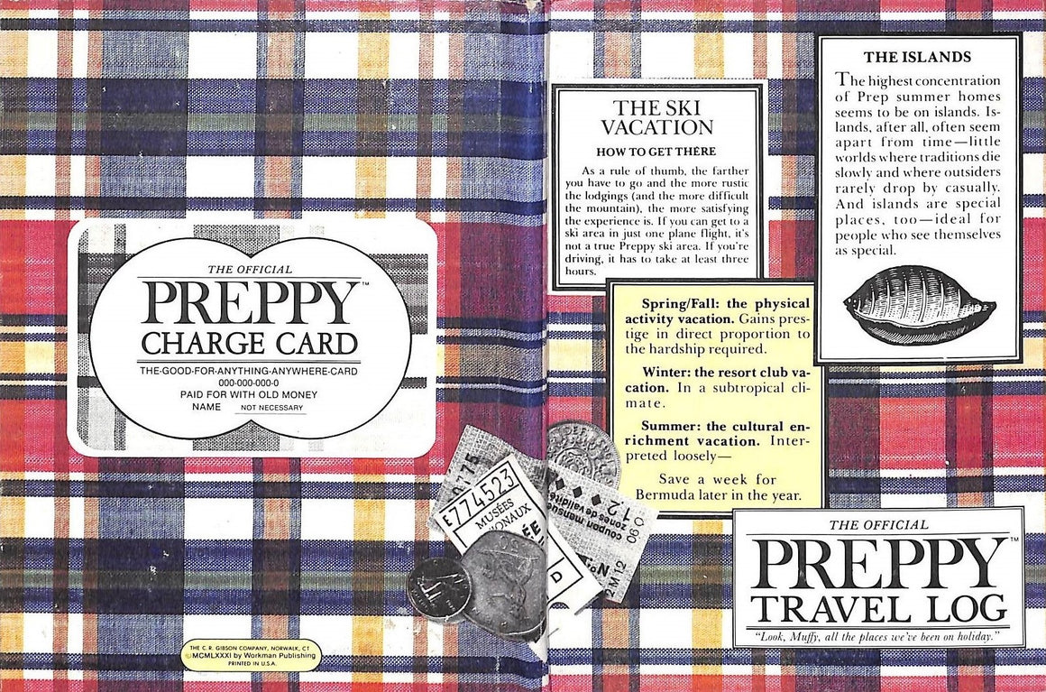 """The Official Preppy Travel Log: A Diary-Day by Day"" 1981"