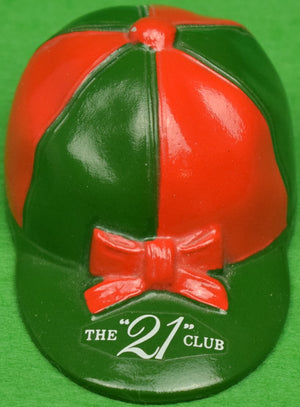 """21"" Club Red/ Green Jockey Cap Bottle Opener (SOLD)"