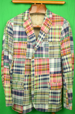 Hickey Patch Madras Jacket Sz: 42Reg