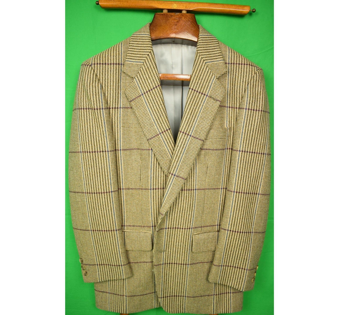 The Andover Shop Scottish Cheviot Russell Plaid Tweed Sz 40R