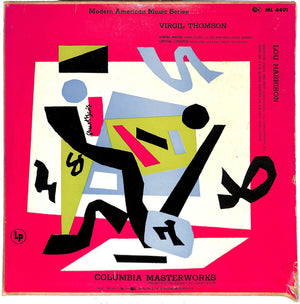 """Modern American Music Series LP Virgil Thomson & Lou Harrison w/ Stuart Davis Cover"""
