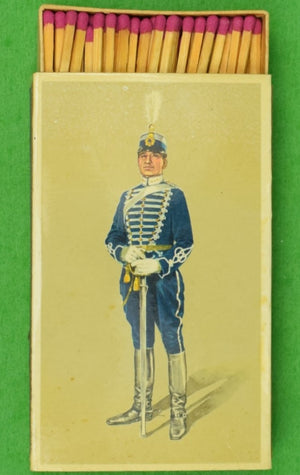 Swedish Hussar Regiment c1895 Officer Matchbook (New/ Old Stock!)