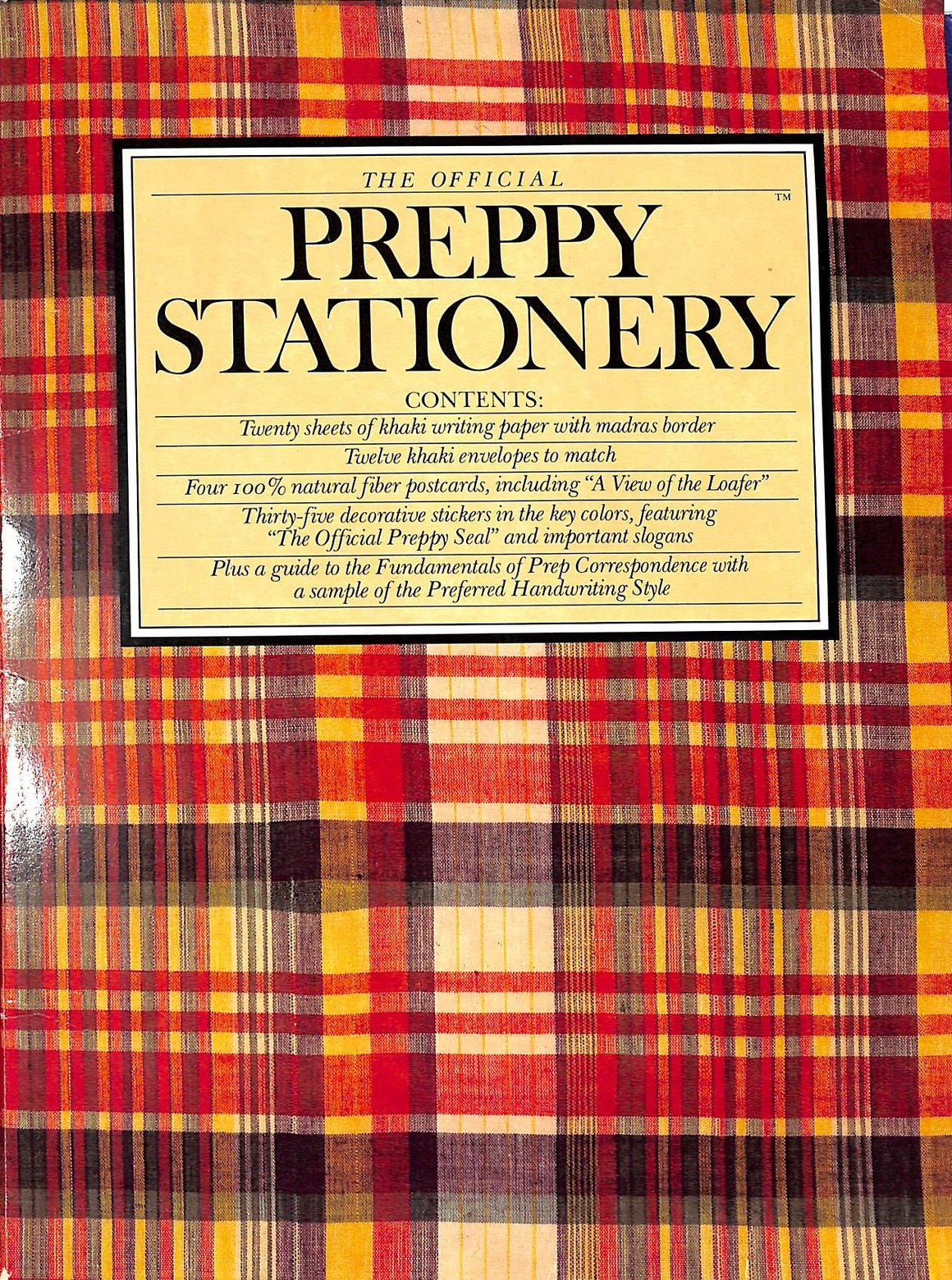 """The Official Preppy Stationery c1981 Folder"""