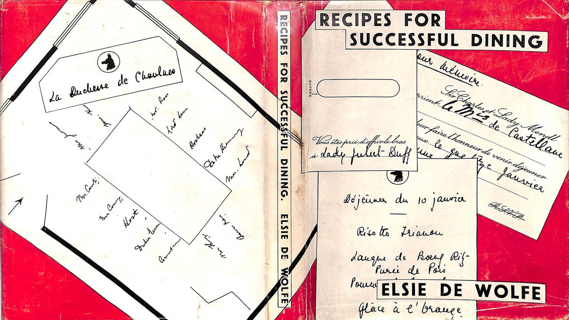 """Recipes For Successful Dining"" 1934 de Wolfe, Elsie"