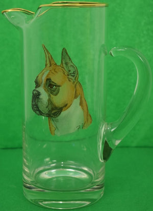 Frank Vosmansky Boxer Glass Pitcher