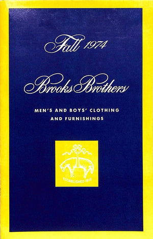 """Brooks Brothers Fall 1974"" Catalog (New/ Old Stock!)"