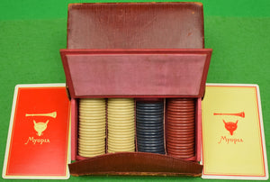 Myopia Hunt Club Twin Deck of Playing Cards in Leather Box