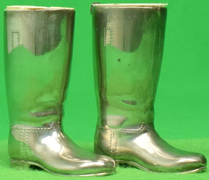 Pair of Grenadier Silver Plated Riding Boots As Match Stick Holders