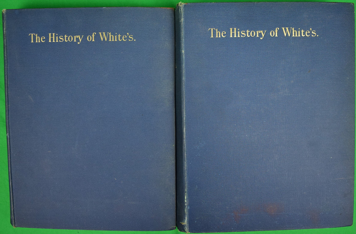 """The History of White's 2 Volume Set"""