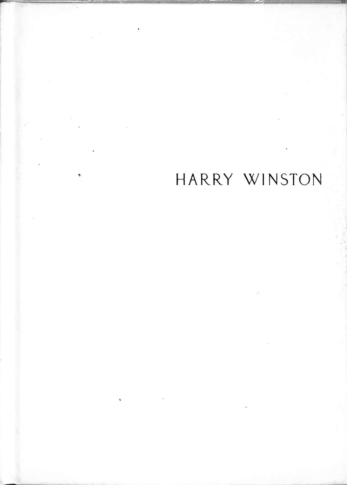 Harry Winston Jewellery Catalogue
