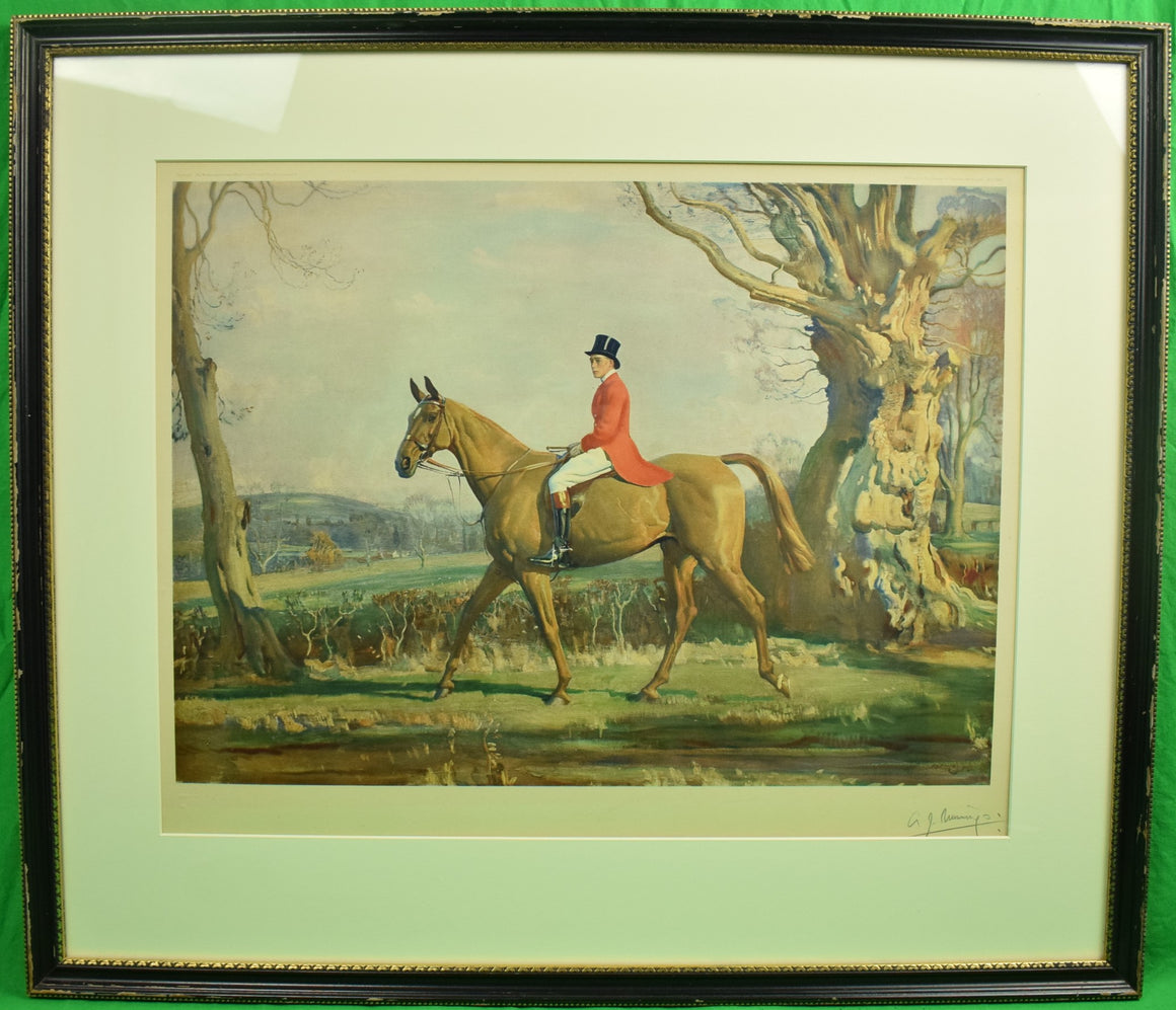 The Prince of Wales on Forest Witch c1921 by Sir Alfred Munnings (Pencil Signed!)
