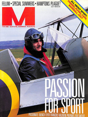 """M The Civilized Man: Passion for Sport July 1986"""