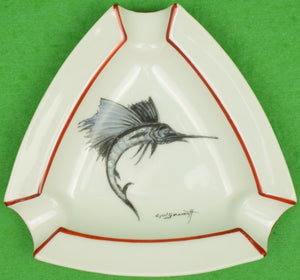 """Cyril Gorainoff for Abercrombie & Fitch c1940s Sailfish Ashtray"""