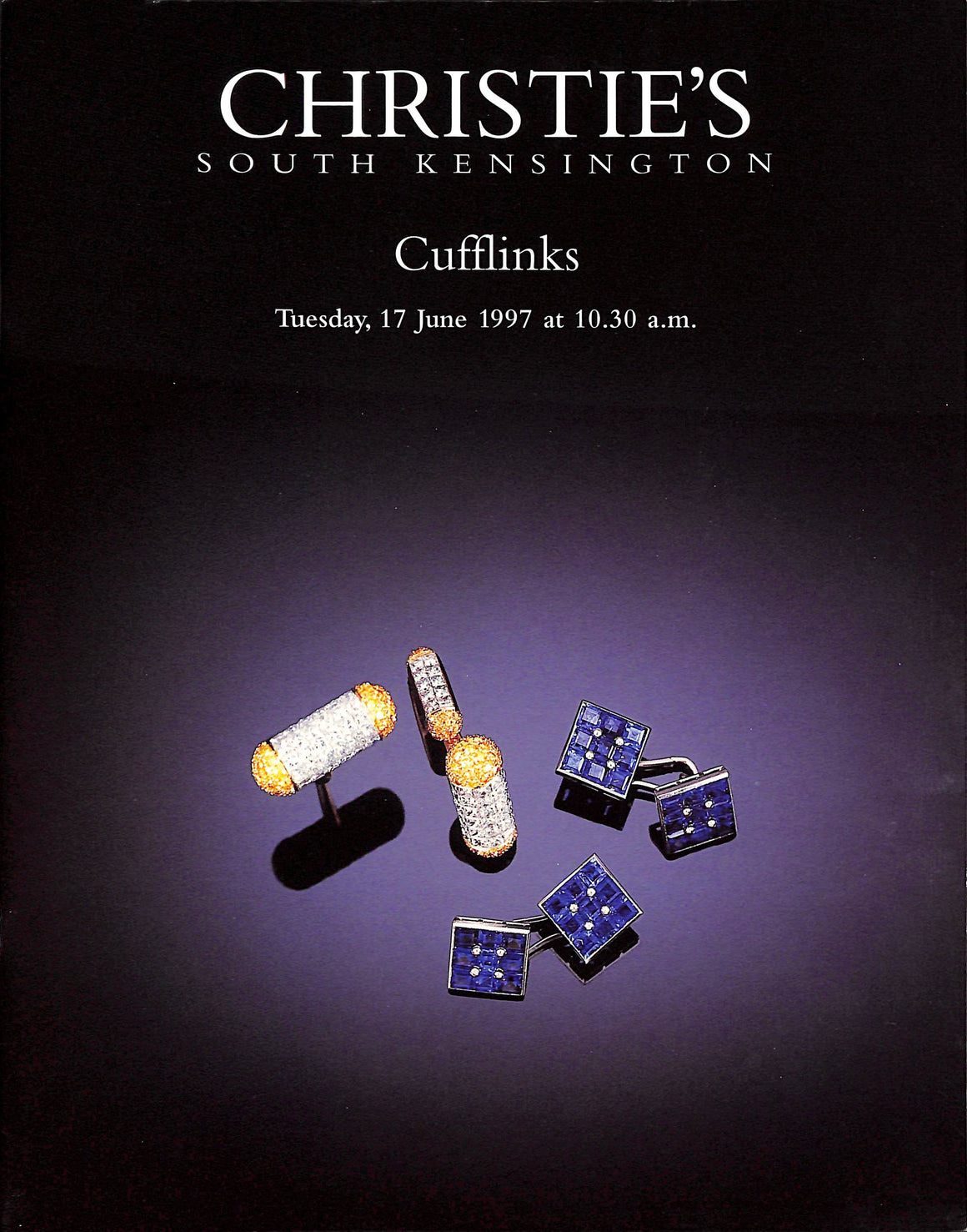 "Christie's South Kensington ""Cufflinks"" June 17, 1997"
