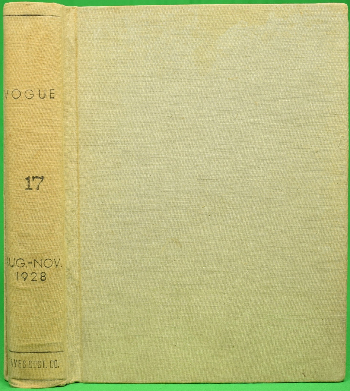 """Vogue 17 Aug.-Nov. 1928"" 4 Bound Issues"