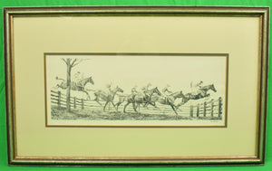 """New Jersey Hunt Cup"" c1930 Drypoint by Paul Brown"