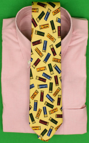 """Drake's for Holland & Holland Multi Shotgun Shell Club Tie in Yellow English Silk"""