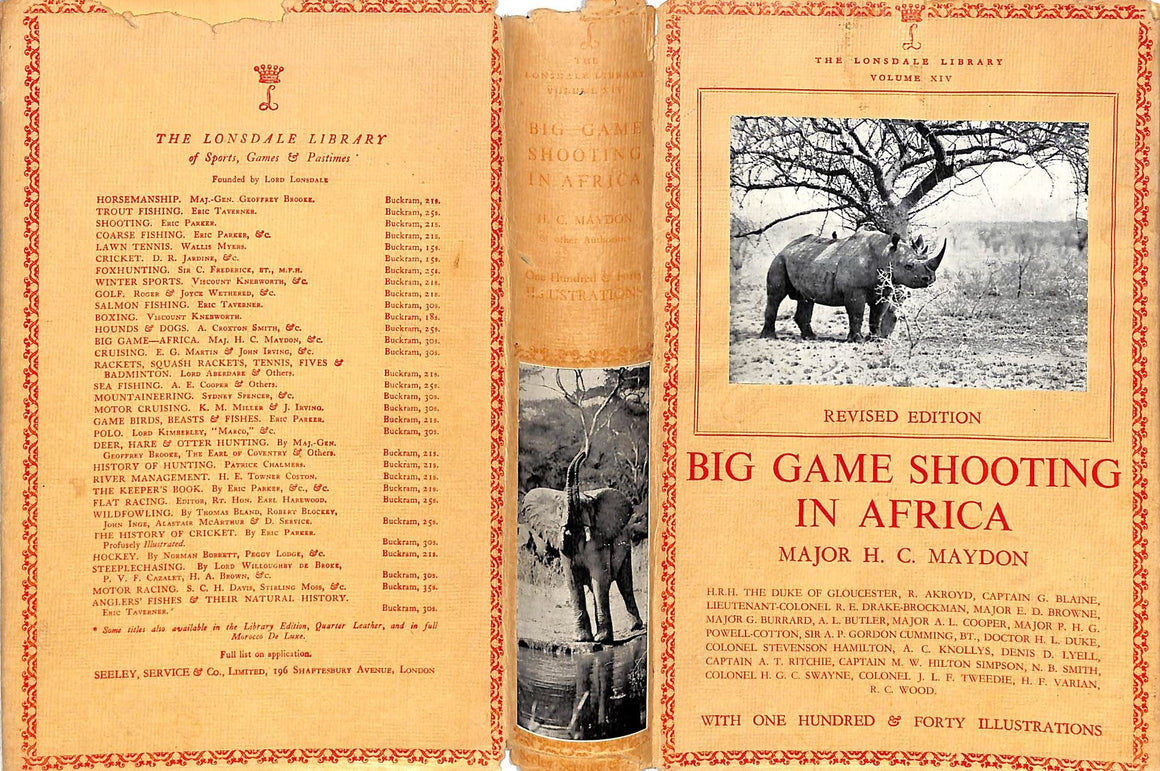 """Big Game Shooting In Africa"" MAYDON, Major H.C."