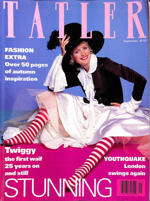 Tatler September 1993 w/ Twiggy Cover