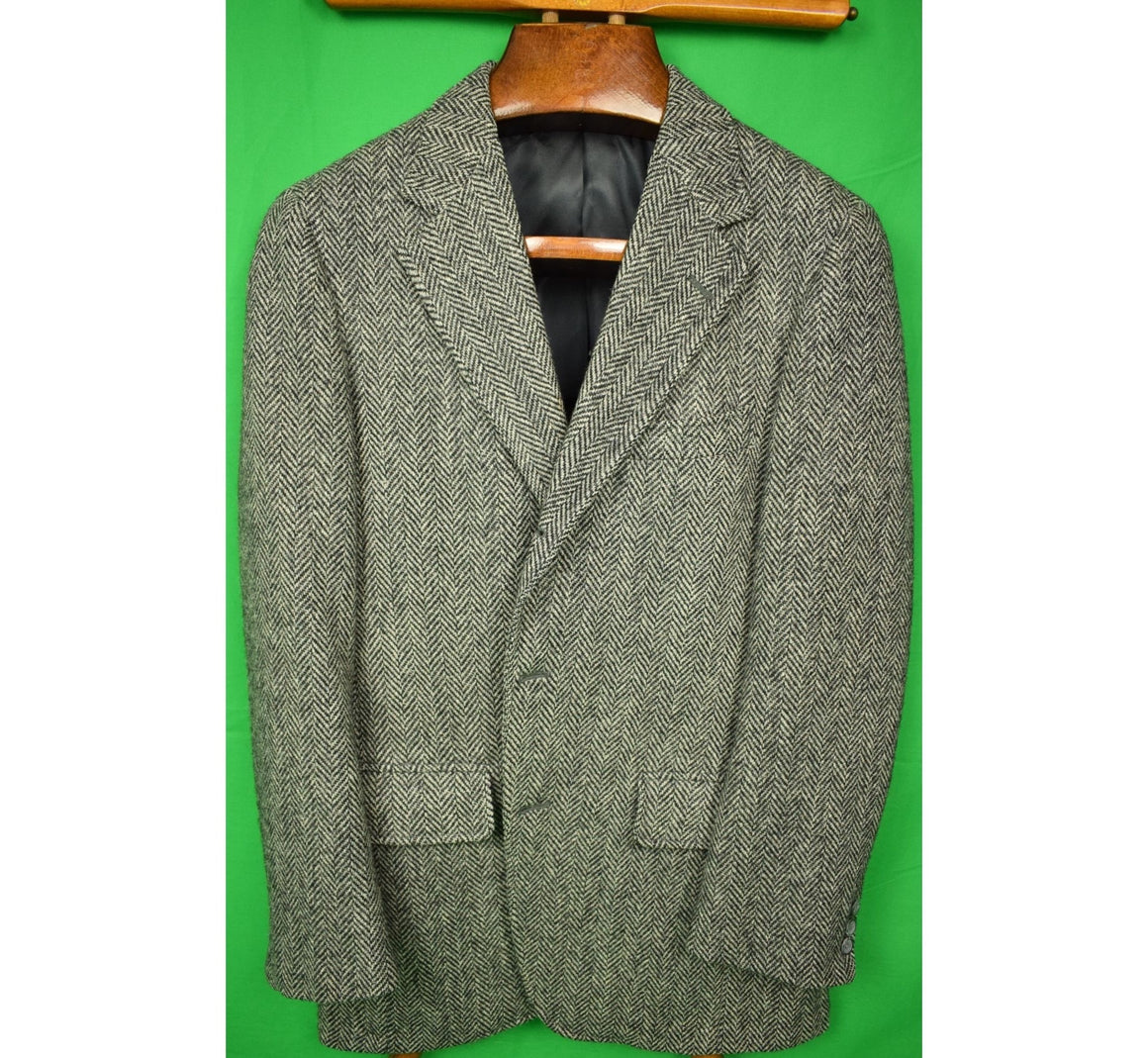 The Andover Shop Char Grey Herringbone Cheviot Tweed Jacket Sz 40R (SOLD)
