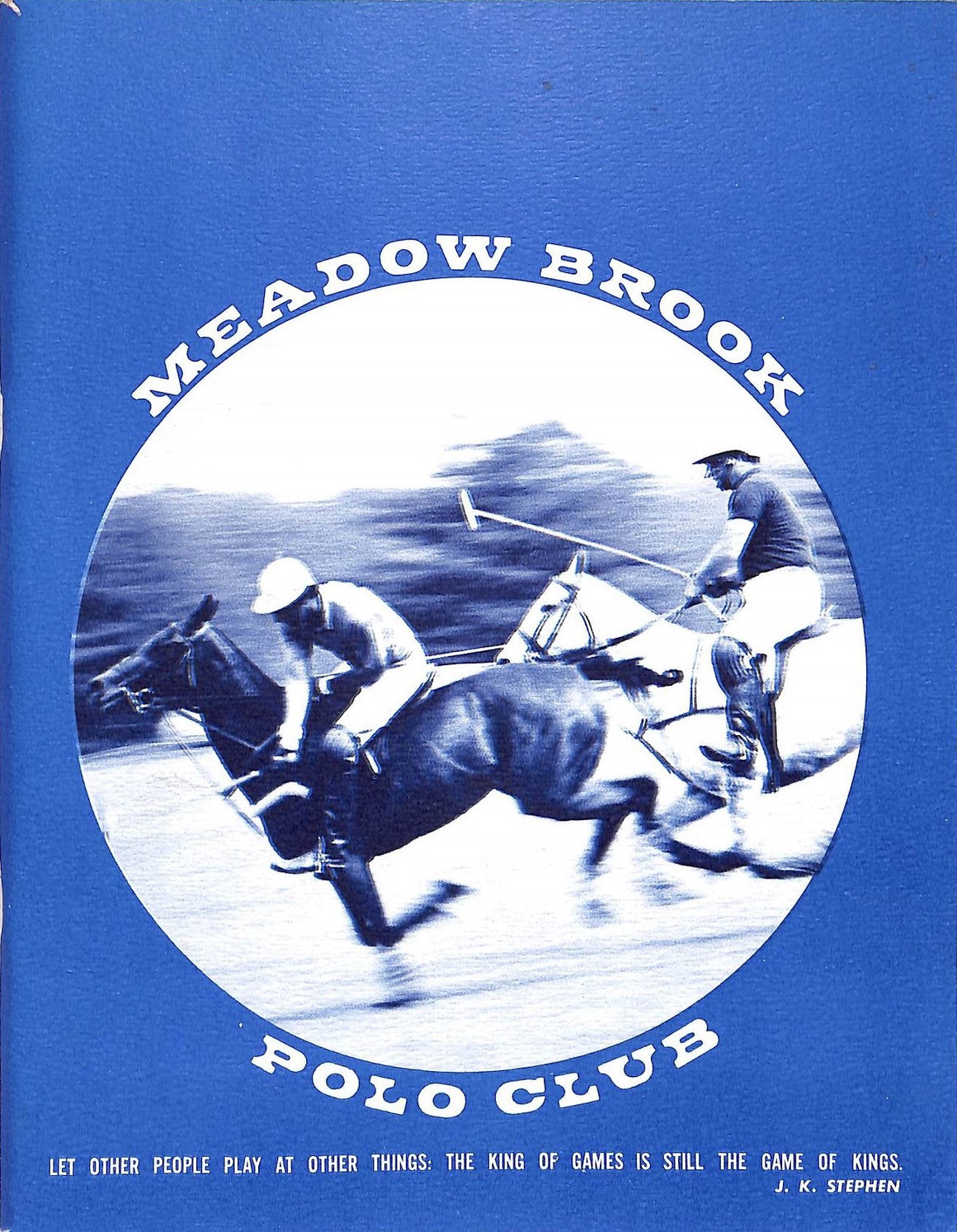 """Meadow Brook Polo Club 1973 Programme"""
