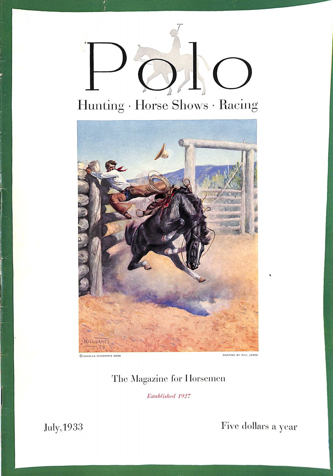Polo: The Magazine for Horsemen, July 1933