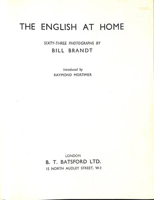 """The English At Home"" 1936 by Bill Brandt"