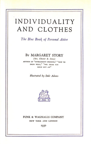 'Individuality and Clothes' 1930 by Margaret Story