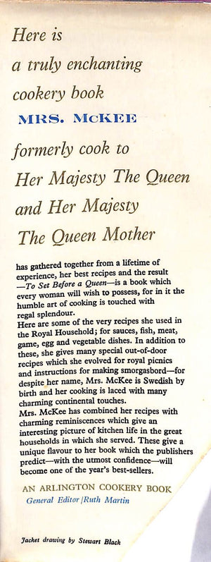 To Set Before a Queen by Alma McKee, Formerly Cook To Her Majesty The Queen