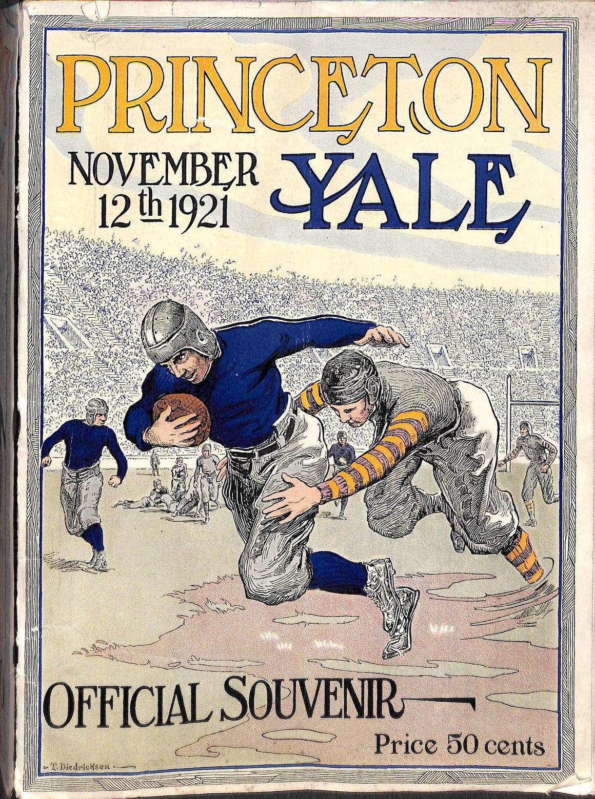"""Official Souvenir Program of the Princeton-Yale Football Game Yale Bowl 1921"""