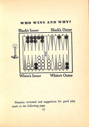 """Winning Backgammon"" 1930 by Grosvenor Nicholas and C. Wheaton Vaughan"