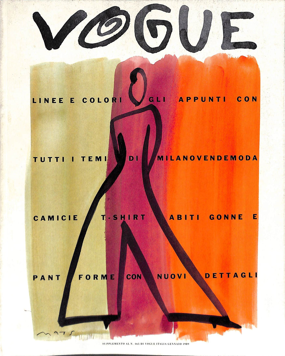 Vogue: Supplemento Al N. 465 Di Vogue Italia Gennaio 1989