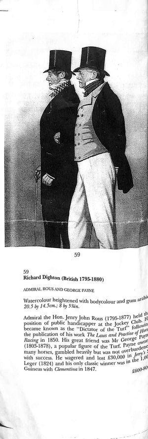 'Mr. George Payne & Admiral Rous' Watercolour by Richard Deighton