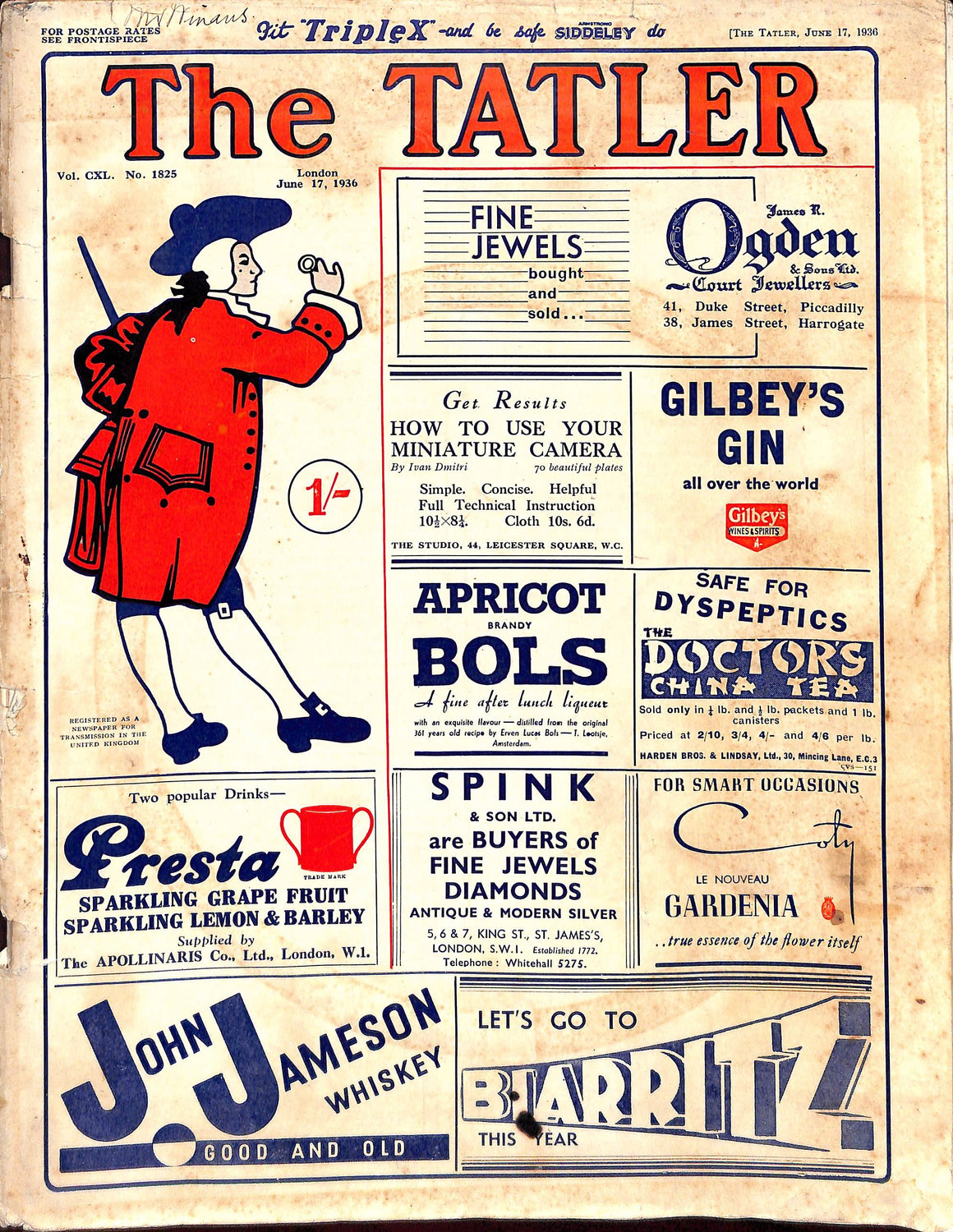 The Tatler: June 17, 1936 (SOLD)