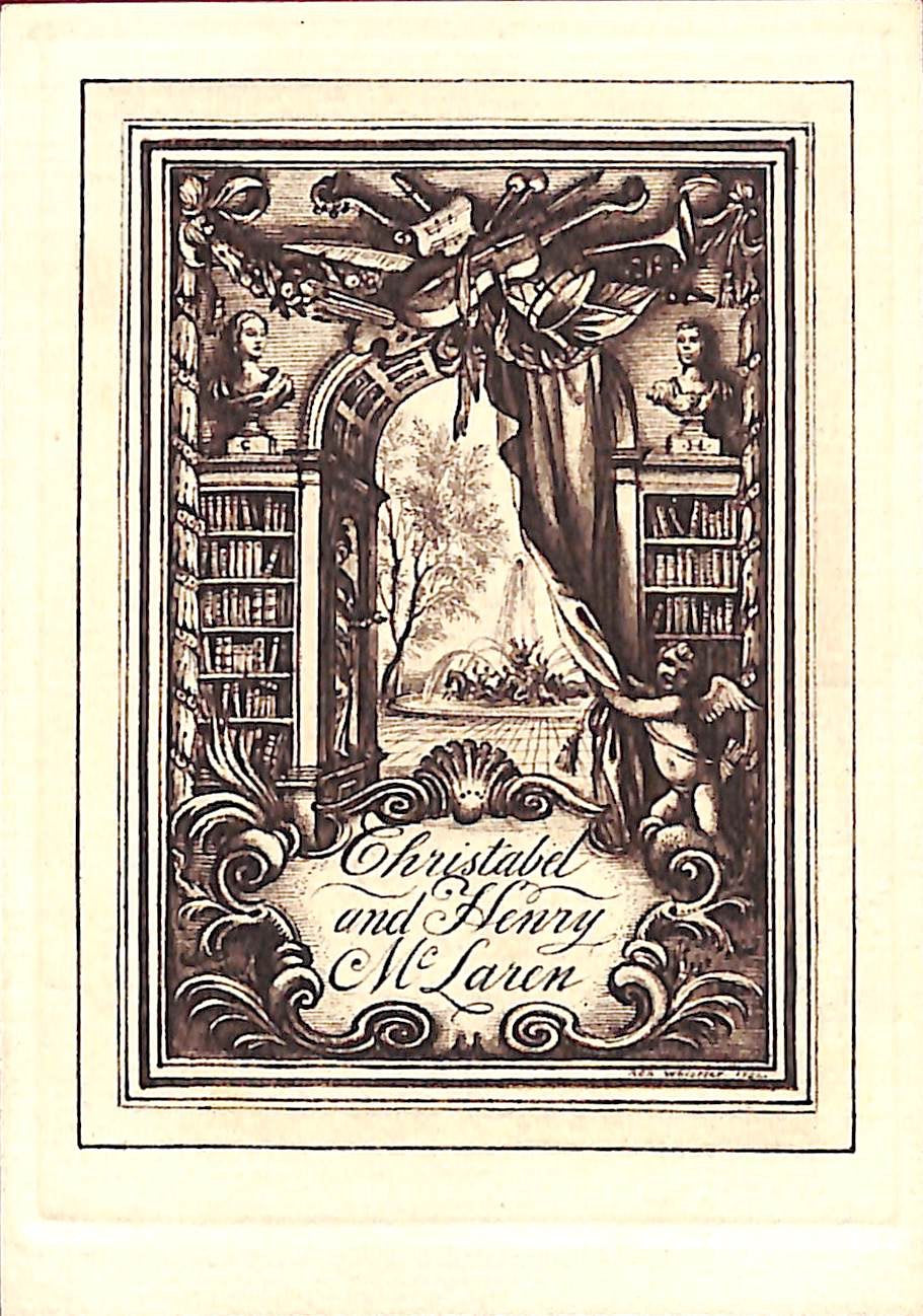 Rex Whistler Designed 1934 Bookplate For Christabel and Henry McLaren