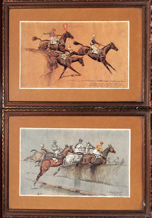 'Pair of Grand National 1931 Steeplechase Scenes' by Paul D. Brown