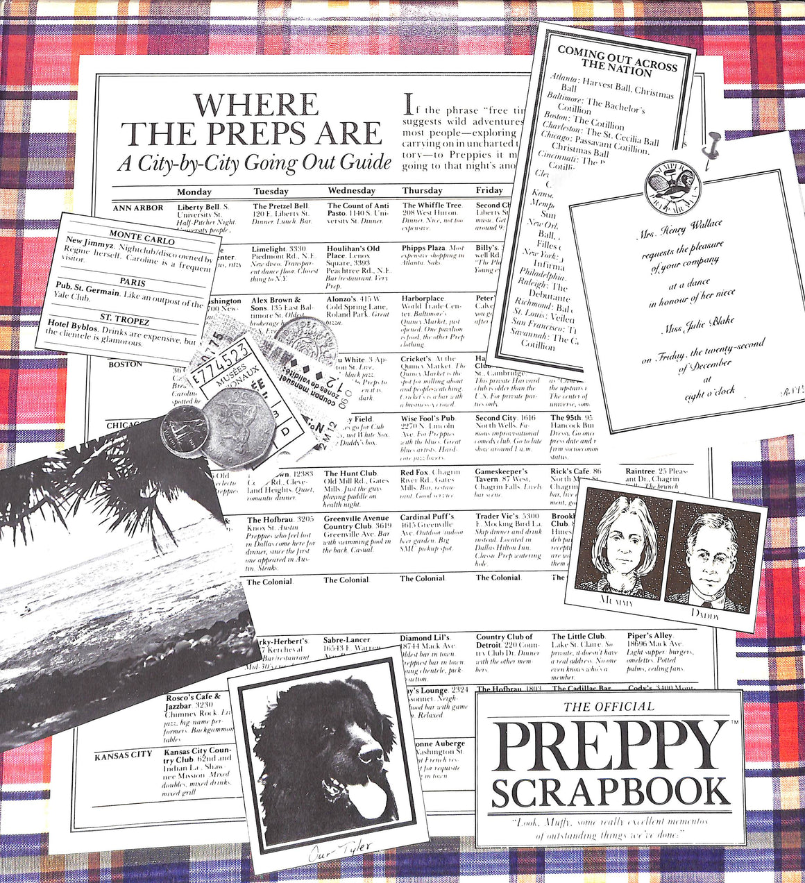 The Official Preppy c1981 Scrapbook Where the Preps Are New/ Old Stock!