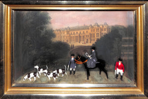 'Pair of Castle Ashby Northamptonshire Britains Diorama Fox-Hunt Shadow Boxes'