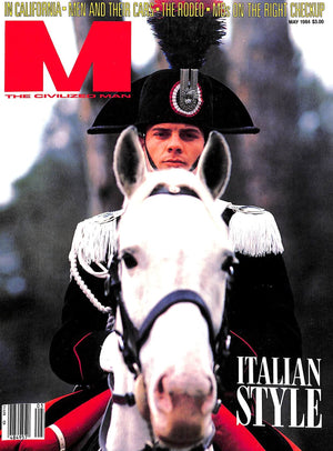 """M The Civilized Man: Italian Style May 1984"" (SOLD)"