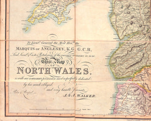 Walker's c1830 Map of North Wales