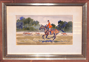 Paul Desmond Brown Huntsman w/ Hounds c1947 Watercolour