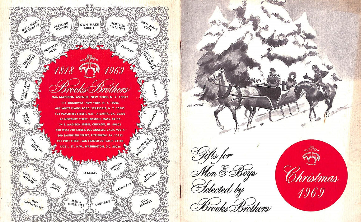 Brooks Brothers Christmas 1969 Gift Catalog
