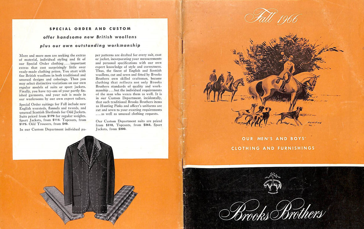 Brooks Brothers Fall 1966 Men's And Boys' Clothing And Furnishings