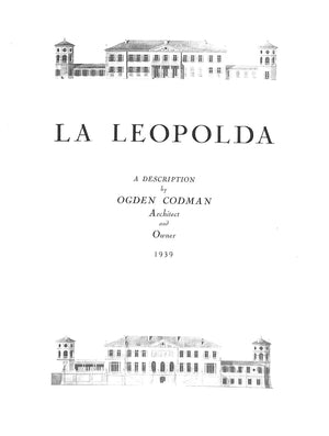 La Leopolda: A Description by Ogden Codman Architect and Owner 1939