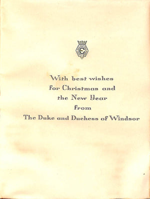 The Duke and Duchess of Windsor Montmartre 1957 Christmas Card